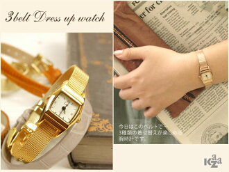 Three belt dress watch ( dress watch ) / Caza o-sho.