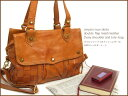[free shipping] [robita] is bag real leather bag lady o-sho at 2WAY shoulder Thoth /AN-159/ ロビタメッシュバッグ cowhide casual Thoth shoulder bag bias of the mesh leather with the double flap