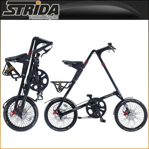 ストライダ 折りたたみ自転車 EVO (MATT BLACK)【小径車】【STRIDA 】【運動/健康/美容】 STRIDA 折りたたみ自転車 内装3段変速モデル