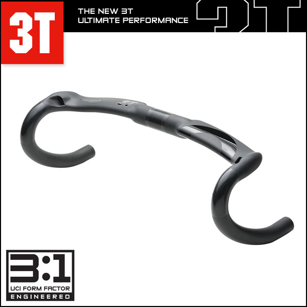 3T(スリーティー) ハンドルバー(ドロップ) エアロノヴァ チーム ステルス AERONOVA TEAM STEALTH【ロード用】【自転車用】 AERONOVA TEAM STEALTH ドロップハンドル 3T(スリーティー)