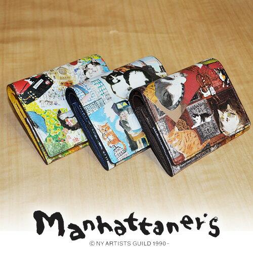 マンハッタナーズ manhattaner's !二つ折財布 折財布 【ライブリーパース】 レディース [通販]【ポイント10倍】【送料無料】【あす楽】 父の日 父の日ギフト