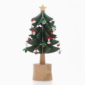 オルゴールツリー スタンダード(グリーン)【木製】【日本製】【クリスマスツリー】【オルゴール】 【飛騨高山 オークヴィレッジ・Oak Village】