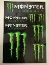 MONSTER ENERGY STICKER 1モンスターエナジー ステッカー1 A4サイズ