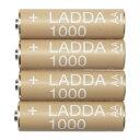 IKEA LADDA イケア 充電式電池 単3形 4本 HR6 AA 1.2V 203.038.74 【メール便不可】