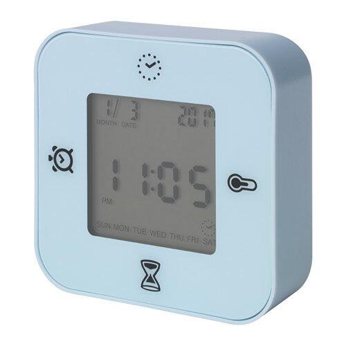IKEA KLOCKIS イケア 時計/温度計/アラーム/タイマー, ライトブルー 403.848.26