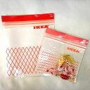 IKEA ISTAD イケア プラスチック袋 レッド/ピンク 60ピース Sサイズ ジップロック 903.392.85 【メール便不可】