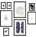 RoomClip商品情報 - IKEA KNOPPANG イケア クノッペング ポスター付きフレーム8個セット, ブラック 504.220.74