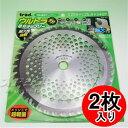 草刈りチップソー 超デカチップ 2枚組 2TUD-255 255×40P trad