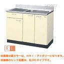 【HRシリーズ】ホーローキャビネットキッチン 流し台1段引出し 間口105
