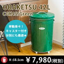 RoomClip商品情報 - 【OBAKETSU】カラーオバケツ CGK45 (42Lサイズ・緑)キャスター付き