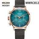 絶対目立つ腕時計【国内正規品】WELDER MOODY WWRC812 DUAL TIME ウェルダー ムーディー デュアルタイム 腕時計 ケースサイズ42mmタイプ ローズゴールド 男女兼用 送料無料 インスタ映え SNS映え おしゃれ