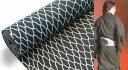 光源氏【浴衣(ゆかた)黒絣 リバーシブル/裏変わり 黒地/網目】2014年 男性用(メンズ/MENS)夏着物(きもの)や花火大会に!大人の男の浴衣/粋/定番/モテ/初心者にも人気/反物販売で大きいサイズ(3L)、小さいサイズも可■仕立て込み通販