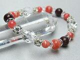  天然石 パワーストーン インカローズ 愛の象徴 魅力を高める薔薇色の石パワーストーン インカローズ 5mm玉、8mm玉 レピドライト 8mm玉20面カット水晶 オリーブカット水晶