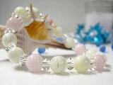 パワーストーン 天然石 レディース ブレスレット 女性の愛と美のお守りパワーストーン パワーストーン 天然石 レディース ブレスレットマザーオブパール ピンクオパール 平珠水晶 パ
