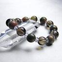 ブレスレット ユナカイト スモーキークォーツ 平珠水晶 パワーストーン 天然石 レディース メンズ