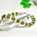 ブレスレット タンザニア産グリーンガーネットAAAA 6ミリ玉 カット平珠水晶 パワーストーン 天然石 レディース メンズ