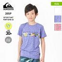 全品割引券配布中 QUIKSILVER クイックシルバー キッズ ラッシュガード Tシャツ 半袖 KLY201124 ビーチ 水陸両用 UVカット ティーシャツ UPF30+ プール 海水浴 ジュニア 子供用 こども用 男の子用