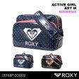 ROXY/ロキシー レディース エナメルバッグ Mサイズ スポーツバッグ ショルダーバッグ 通学 クラブ活動 運動部活動