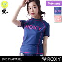 ROXY/ロキシーレディース半袖ラッシュガードRLY161038Tシャツタイプ水着みずぎ紫外線カットUVカットUPF50+女性用人気ブランドおしゃれかわいい