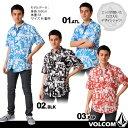 【メール便(ネコポス)無料】[2013 SUMMERモデル]VOLCOMの半袖カジュアル シャツが50%OFF!男性用