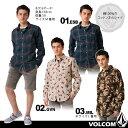 【ネコポス無料】[2013 HOLIDAYモデル]VOLCOMの長袖カジュアル シャツが50%OFF!男性用【あす楽】