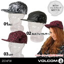 [2014 FALLモデル]VOLCOMの平つば キャップ帽子が50%OFF!女性用【あす楽】