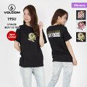 VOLCOM/ボルコム レディース 半袖 Tシャツ B35219JA ティーシャツ ロゴ 柄 クルーネック 白 ホワイト 黒 ブラック 女性用