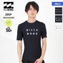 全品割引券配布中 BILLABONG/ビラボン メンズ ラッシュガード Tシャツ BA011-852 ティーシャツ 半袖 水着 UVカット UPF50+ ロゴ ビーチ 海水浴 プール 男性用