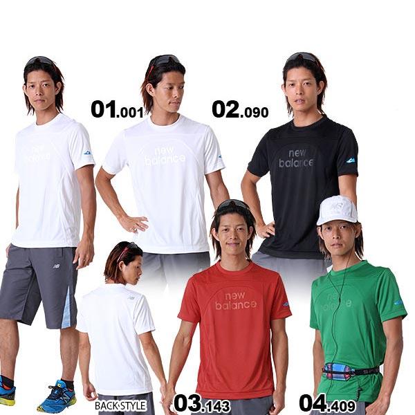 New Balance/ニューバランス メンズ スポーツ用半袖Tシャツ{NBH-41580M}30%OFF Uネック ティーシャツ ウェア ウエア ジョギング ランニングウェア スポーツ