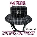 34%OFF [free shipping] winter surf hat / black check [TAVARUA ]
