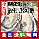 ショッピング広島 【期間限定】生牡蠣 生食用 殻付き牡蠣30個 広島牡蠣(サイズ選別 厳選品)[産地直送] 鮮度と美味しさが違います! [贈答用/お歳暮] 化粧箱入