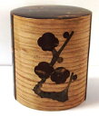 東北の城下町角館【桜皮細工】【茶筒缶】平型40匁梅【紙箱入】日本製05P26Mar16
