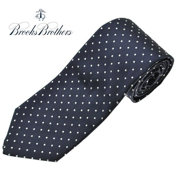 ブルックスブラザーズ ネクタイ BROOKS BROTHERS 水玉 ドット シルクタイ アメリカ製 ネイビー 紺