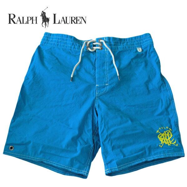 ラルフローレン 水着 海パン RALPH LAUREN ポロ POLO メンズ 紳士用 スイムウェア ショーツ サーフ ハーフパンツ マレット 刺繍 ブルー