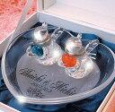 リングピローガラス ハート エンジェル(中) リングピロー、結婚式、結婚祝いにも最適!人気ガラスのリングピロー【RCP】