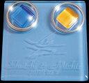 ショッピングリングピロー リングピロー.名前彫刻入り高級ジュエリーケース入りガラスのリングピロー(ブルー)つる(水色)【RCP】
