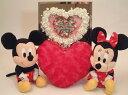 Disneyディズニー(ミッキー・ミニー)ウェルカムドールと幸せローズのウェルカムボードのセット、ミラーハート、結婚祝い、ブライダル..