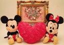 Disneyディズニー(ミッキー・ミニー)ウェルカムドールとアンティーク調ウェルカムボード(ゴールド)セット、結婚祝い、ブライダルギ..