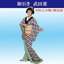 【裾引き】【武田菱】着物(きもの) 仕立上がり ポリエステル日本舞踊や新舞踊 歌謡舞踊、民謡カラオケのステージ衣装として