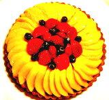 バースデーケーキ用に!記念日に!お祝い用に!とろけるマンゴーといちごのタルト16cm(5号) お誕生日ケーキ、バースデーケーキ用に! 大切な記念日にも! 【バースデイケーキ】