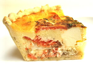 スモークサーモン クリームチーズ キッシュ