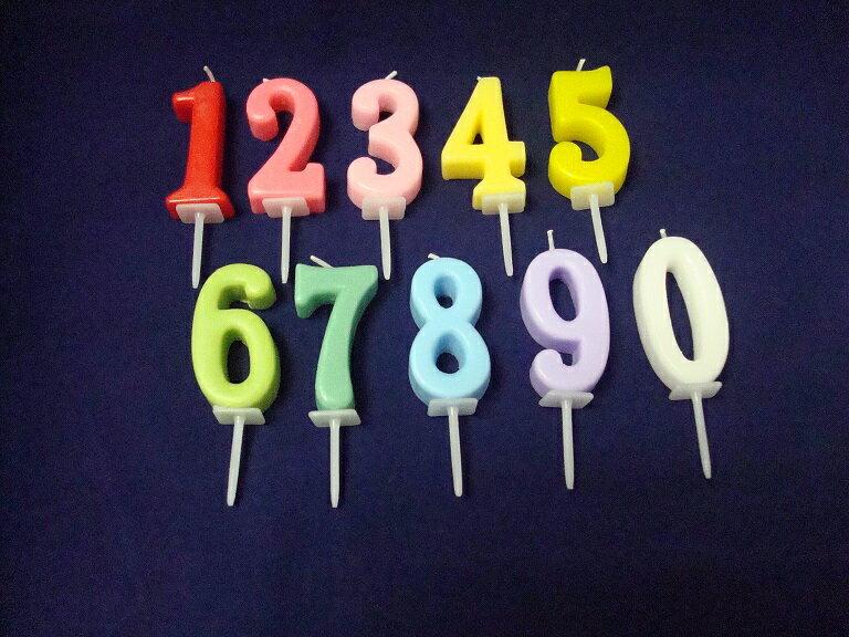 ♪数字のキャンドル♪ お誕生日ケーキのデコレーションに必須アイテム!