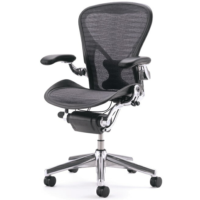 [HermanMiller]アーロンチェア B サイズ(AE113AFB-PJCDBB4M022109)張地:タキシード【ポリッシュドアルミベース】【ポスチャーフィットフル装備】ハーマンミラーAeron Chairs【ミディアムサイズ】【宅配便送料無料】【EGP】