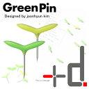 グリーンピン (Green Pin) 画鋲 〔5本入り×2個〕+d アッシュコンセプト【定形外郵便 送料120円】「通販のオファー」/5400円以上で送料無料