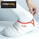 ショッピングsubu SUBU 2020 CORDURA FABRIC をアッパー素材に使用した人気のダウンスリッパ SUBU ソール SUBUamp WHITE LINE ダウンシューズ 靴 プレミアムレーベル ミリタリー、ワークウェア