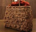 かごバッグ やまぶどう籠/削・丸・中 みだれ編・花模様SHOKUの布 コースター2枚プレゼント中♪SA-7787/1/送料無料