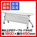 【国産】スタッキングテーブル LCS 幅1800×奥行450mm・パネル付/NI-LCS-1845P