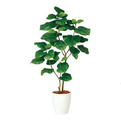 観葉植物 人工 樹木 ウンベラータ FST2本 高さ1200mm Sワイドサイズ 鉢:RP-225