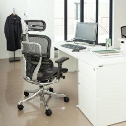 【送料無料】高機能オフィスチェアパソコンチェアエルゴヒューマンプロブラック肘付き可動ヘッドレストその他多彩な機能搭載EHP-HAM-KM11Erghuman肘掛け付き事務椅子メッシュチェア学習椅子プレジデントチェアイスchair
