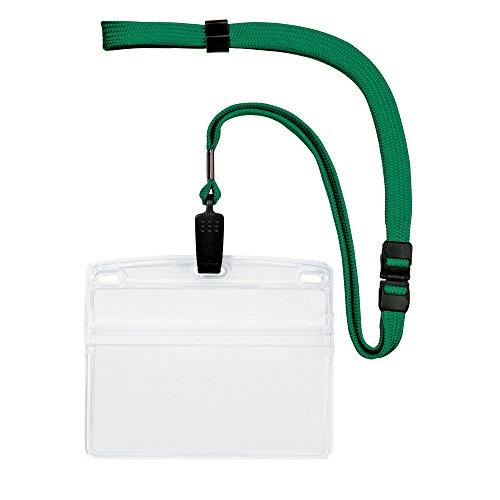 オープン工業 吊り下げ名札 クリップ式 ソフトヨコ(特大サイズ) 緑 10枚 NL-21-GN(10セット) オープン工業 吊り下げ名札 クリップ式 ソフトヨコ(特大サイズ) 緑 10枚 NL-21-GN(10セット)